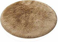 Runder Shaggy-Teppich mit rundem Durchmesser