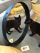 Runder spiegel 55cm durchmesser Verbrannt Kupfer farbe