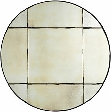 Runder Spiegel aus Metall, schwarz D91
