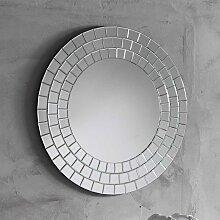 Runder Spiegel mit Rahmen in Mosaik Optik 80 cm