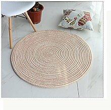 Runder Teppich Bequeme Hautpflege Gewebter Teppich