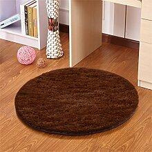 Runder Teppich Computer Stuhl Drehstuhl Korb Lifte Kinderzimmer Nachttisch Wohnzimmer Schreibtisch Schreibtisch Rutschfeste Matte Teppich ( größe : Diameter 120cm )