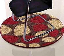 Runder Teppich Computer Stuhl Matte Wohnzimmer