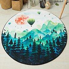 Runder Teppich Einfacher Stil Geeignet Für