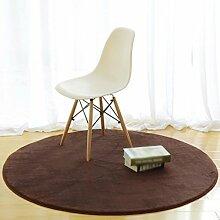 Runder Teppich, einfaches modernes Schlafzimmer Nachttischteppich, Wohnzimmer Couchtisch mit dickeren Stuhl Teppich kriechende Matte , #4 , diameter 180cm