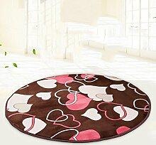 Runder Teppich, Fitness Yoga Matten, Computer Kissen, Wohnzimmer, Schlafzimmer niedlichen Bett Matten , #1 , diameter 80cm