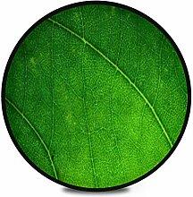 Runder Teppich Flauschig Weiche Grüne Blatt