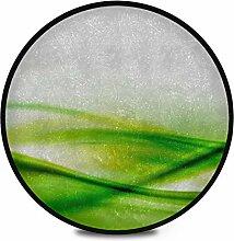 Runder Teppich Flauschig Weiches Grün Abstrakter