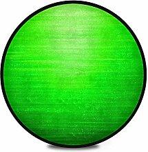 Runder Teppich Flauschig Weiches Grün Heller
