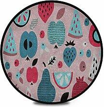 Runder Teppich Flauschige weiche Frucht Nahtlose