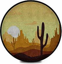 Runder Teppich Flauschige weiche Wüste