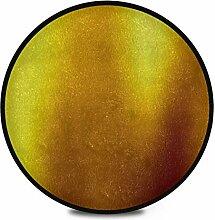 Runder Teppich Flauschiger weicher Goldhintergrund