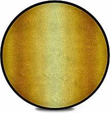 Runder Teppich Flauschiger weicher Goldpolierter