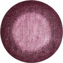Runder Teppich Flora, lila (Ø 90 cm)