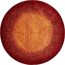 Runder Teppich Flora, orange (Ø 90 cm)