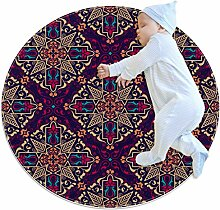 Runder Teppich für Fußmatten, arabischer Stil,