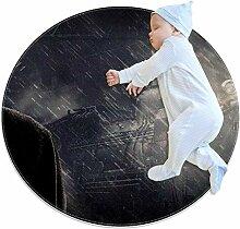 Runder Teppich für Kinderzimmer, Spielzimmer,