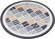 Runder Teppich im Schlafzimmer Wohnzimmer für Stuhl Sofa Couchtisch Bedside Bereich Teppich Matte kreative stilvolle Art geometrische Linie Muster für Kind ( größe : Diameter 180cm )