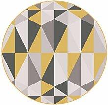 Runder Teppich im Wohnzimmer Schlafzimmer für Bedside Couchtisch Stuhl Bereich Teppich Matte Geometrisch Mischfarben Muster ( größe : Diameter 80cm )