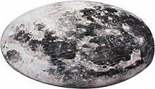 Runder Teppich im Wohnzimmer Schlafzimmer für Couchtisch Nachttisch Stuhl Bereich Teppich Matte Kreativ Science Fiction Stil Moon Pattern ( größe : Diameter 200cm )