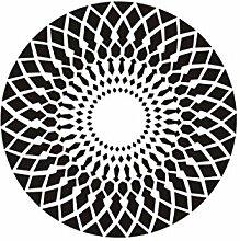 Runder Teppich im Wohnzimmer Schlafzimmer für Nachttisch Couchtisch Stuhl Bereich Teppich Matte Schwarz und Weiß ( größe : Diameter 200cm )