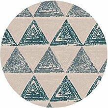 Runder Teppich im Wohnzimmer Schlafzimmer für Nachttisch Couchtisch Stuhl Bereich Teppich Matte Dreieck Muster ( größe : Diameter 180cm )