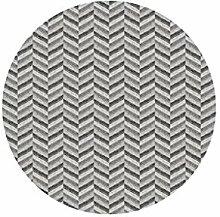 Runder Teppich im Wohnzimmer Schlafzimmer für Nachttisch Couchtisch Stuhl Bereich Teppich Matte Grau Ripple Pattern ( größe : Diameter 120cm )