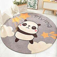 Runder Teppich Karikatur Panda, Hase Und Elefant
