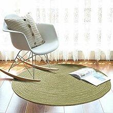 Runder Teppich, Korb Computer Stuhl Teppich, Schlafzimmer Nachttisch Wohnzimmer Teppich, Matten , 1 , diameter 80cm