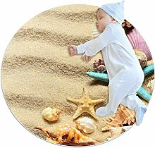 Runder Teppich mit Seestern, für Kinderzimmer,