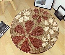 Runder Teppich, Rutschfester Drehstuhl Fußauflage