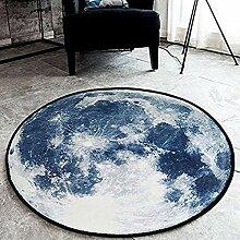 Runder Teppich Schaffell Kunstfell Flauschige