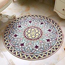 Runder Teppich, stilvolles einfaches Wohnzimmer, Schlafzimmer, Studie, Korb, Computer Stuhl kann gewaschen Teppich, Pad , #5 , diameter 200cm