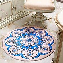 Runder Teppich, stilvolles einfaches Wohnzimmer, Schlafzimmer, Studie, Korb, Computer Stuhl kann gewaschen Teppich, Pad , #2 , diameter 200cm