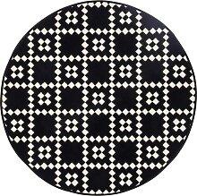 Runder Teppich Tara, schwarz (Ø 120 cm)