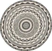 Runder Teppich Tiko,, grau (Ø 90 cm)