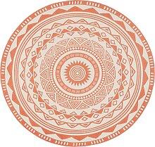 Runder Teppich Tiko,, orange (Ø 90 cm)