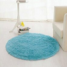 Runder Teppich, Wohnzimmer Couchtisch, einfaches Schlafzimmer, Bett, Computer Stuhl, Korb, Yoga Fitness Decke , #8 , diameter 120cm