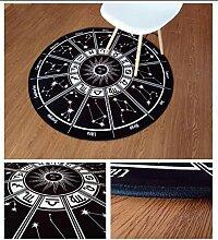 Runder Teppich Wohnzimmer Schlafzimmer Nachttisch Sofa Couchtisch Teppich Korb Kinderzelte Mats Korb Drehstuhl Ruhiger Hocker Computer Stuhl Kissen ( Farbe : #2 , größe : Diameter-60CM )