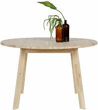 Runder Tisch aus Eiche Massivholz 120 cm