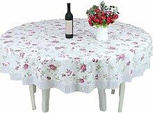 Runder Tischdecke-Plastik PVC-runde runde Tischdecke-runde Tabellen-Tuch-Tischdecke-wasserdichte ölbeständige Tischdecke (Farbe : #2, größe : 200cm)