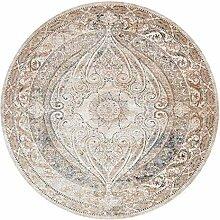 Runder Vintage-Teppich Runder traditioneller