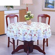 Runder wasserdichter tisch tuch/home plastik tischdecke-H Durchmesser152cm(60inch)
