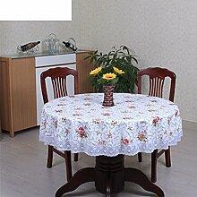 Runder wasserdichter tisch tuch/home plastik