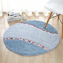 Runder Wohnzimmer Schlafzimmer rutschfeste Matten Großer Teppich (Größe: 70cm) ( Farbe : B , größe : 70cm )