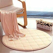 Runder Wohnzimmer Teppich, Schlafzimmer Nachttischdecke, Computer Stuhl Matten, Hause Teppich , 7 , diameter 80cm