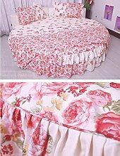Rundes Bett Bettrock, vier Sets, Bettwäsche-Sets, Tagesdecken, europäische Bettwäsche, 4er-se