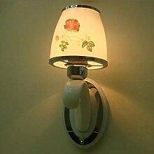 Rundes, modernes, minimalistisches Wandleuchte Lampe warme Schlafzimmer Bett Kristall Treppenhaus Wohnzimmer Light 5-W-LED