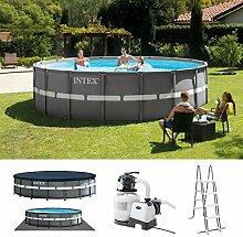 Rundes Schwimmbecken für Draußen Intex Ultra