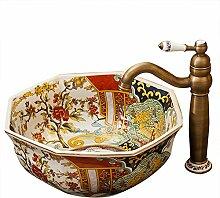 Rundes Waschbecken Waschbecken Keramik Kunst